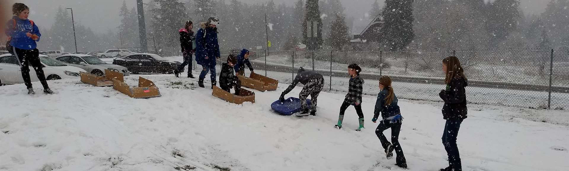 2nd Annual Pi Elementary Cardboard and Duct Tape Sled Competition
